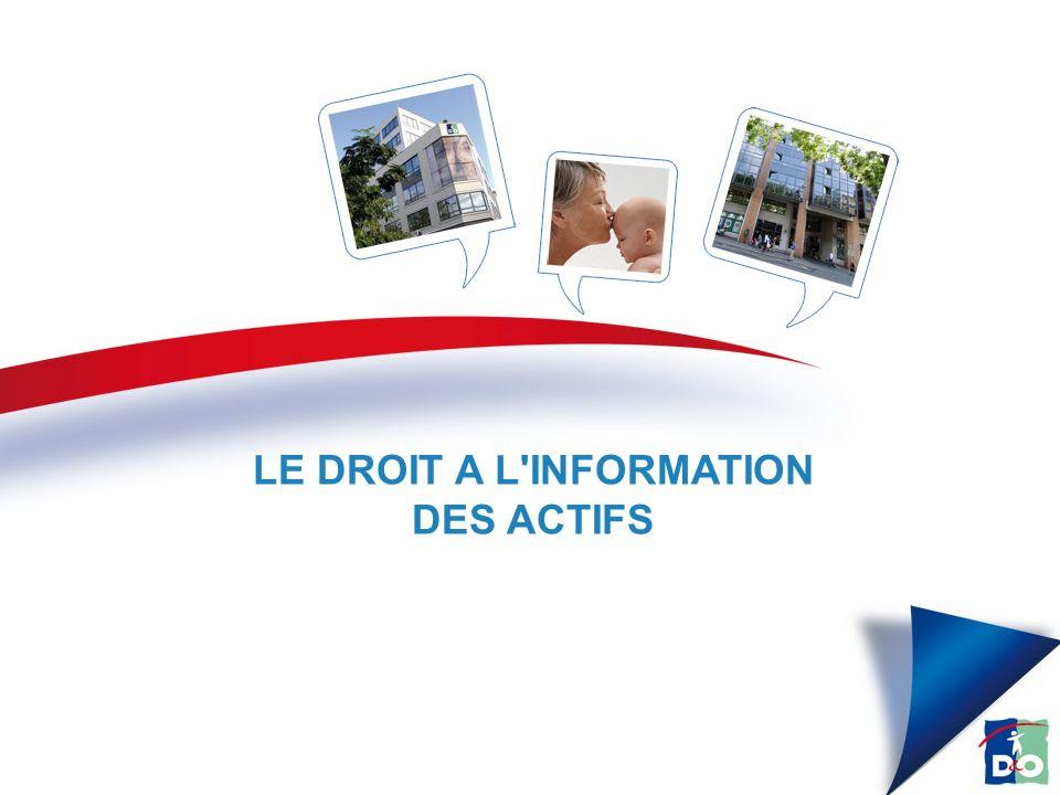 LE DROIT A L INFORMATION DES ACTIFS