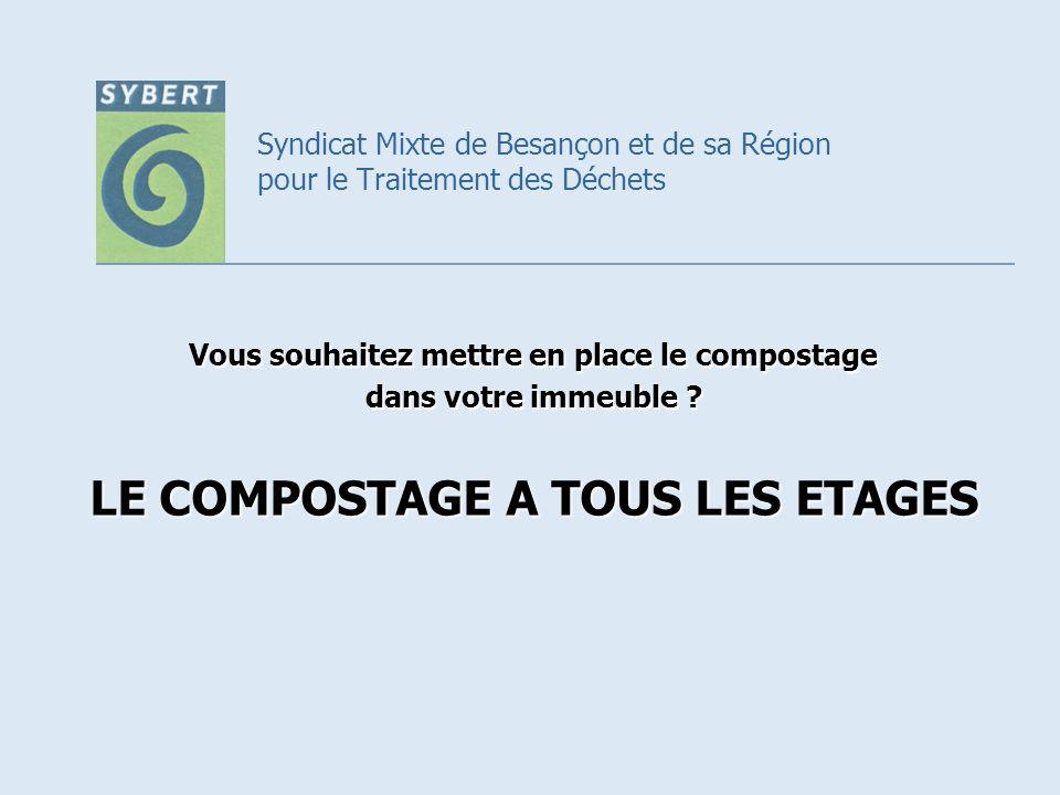 Syndicat Mixte de Besançon et de sa Région pour le Traitement des Déchets Vous souhaitez mettre en place le compostage dans votre immeuble ? LE COMPOS
