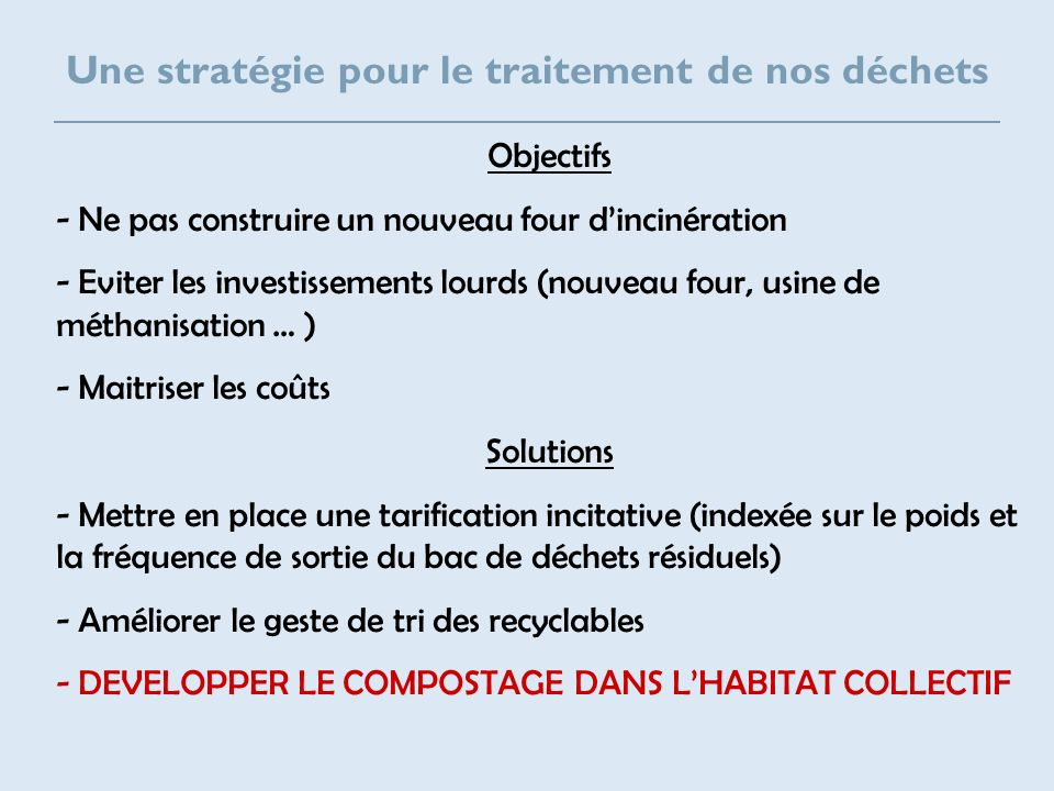Composition de la poubelle du SYBERT Comment faire .