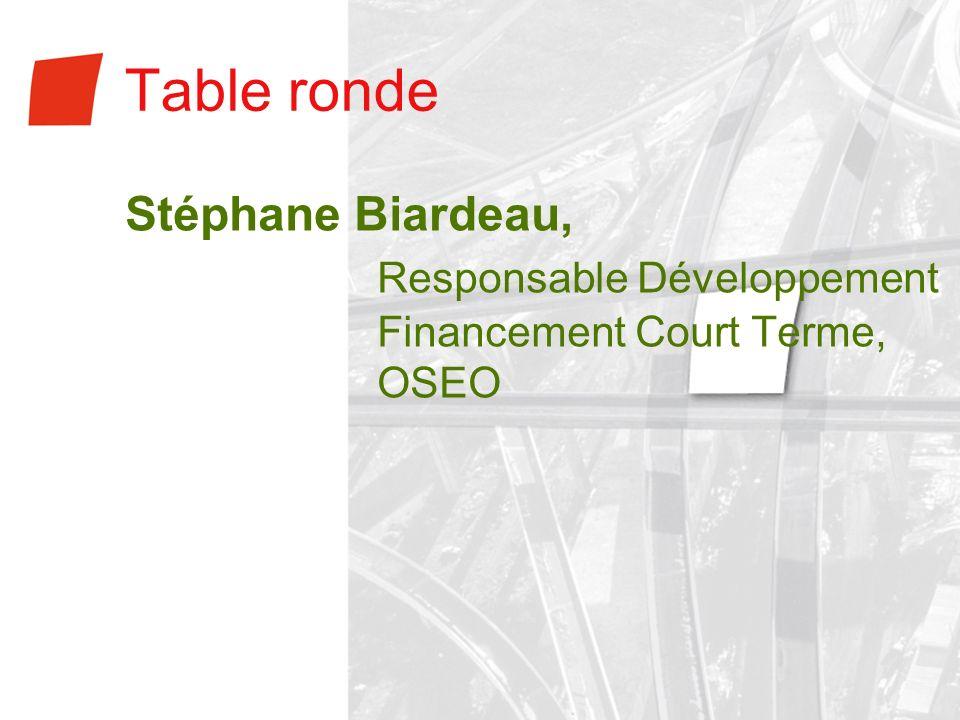 Table ronde Stéphane Biardeau, Responsable Développement Financement Court Terme, OSEO