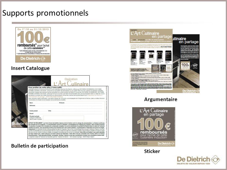 5 Cliquez pour modifier le style du titre Supports promotionnels Insert Catalogue Argumentaire Bulletin de participation Sticker