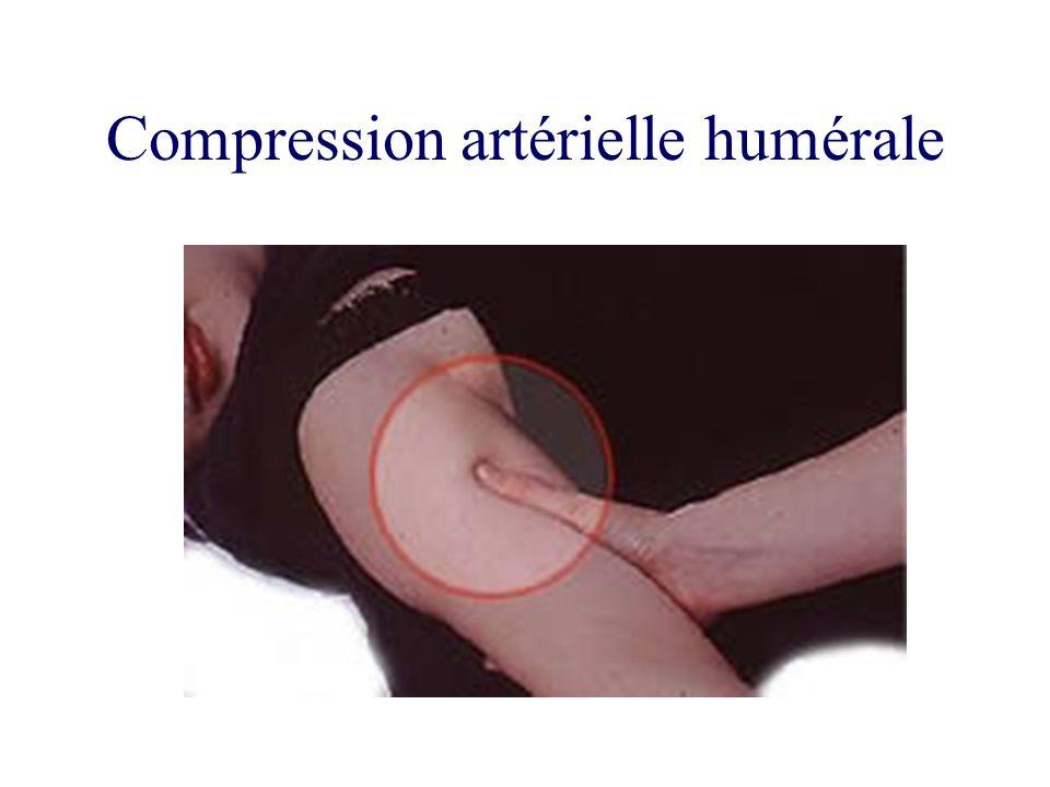 Compression artérielle humérale