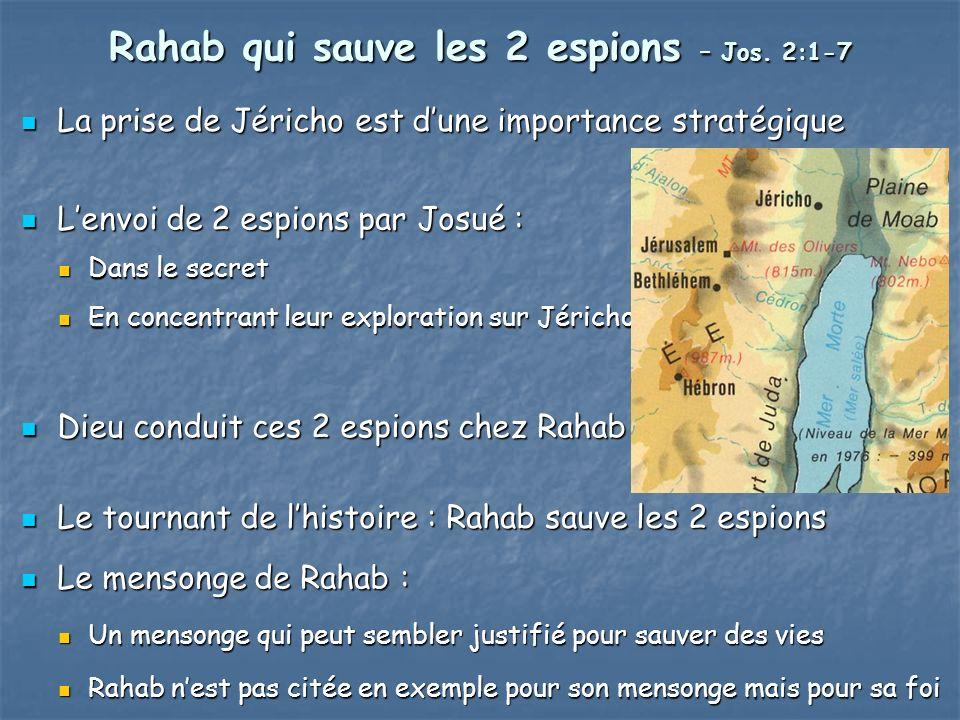 Rahab qui sauve les 2 espions – Jos.