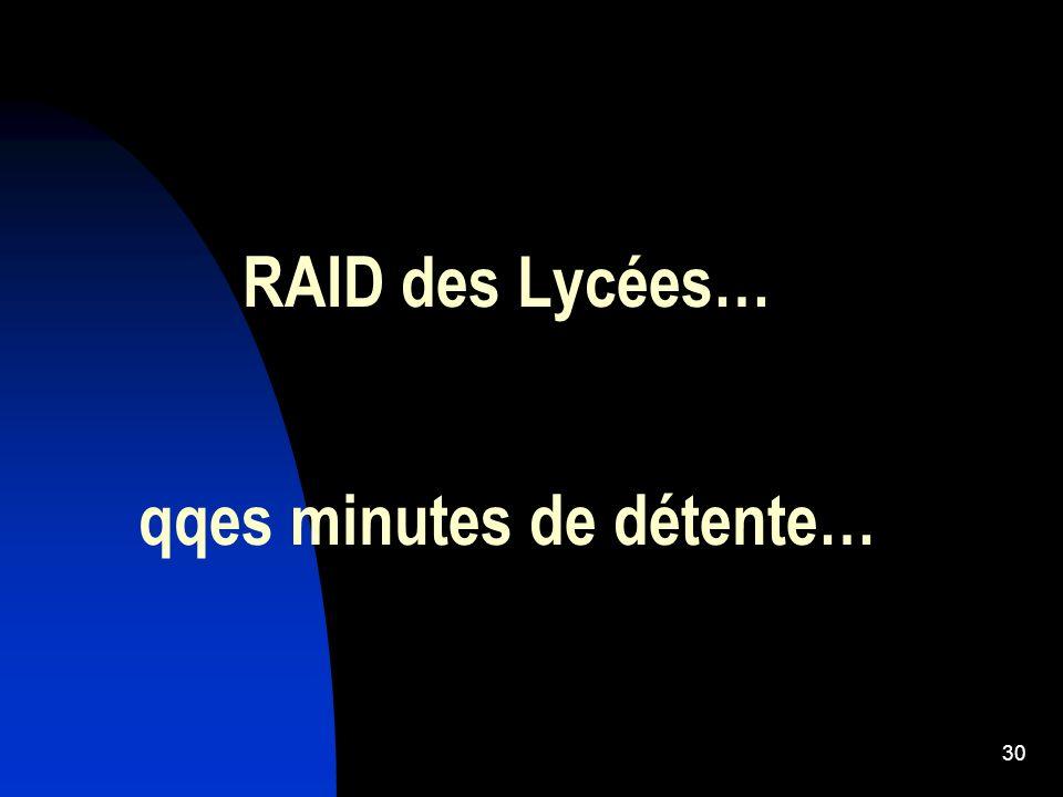 RAID des Lycées… qqes minutes de détente… 30