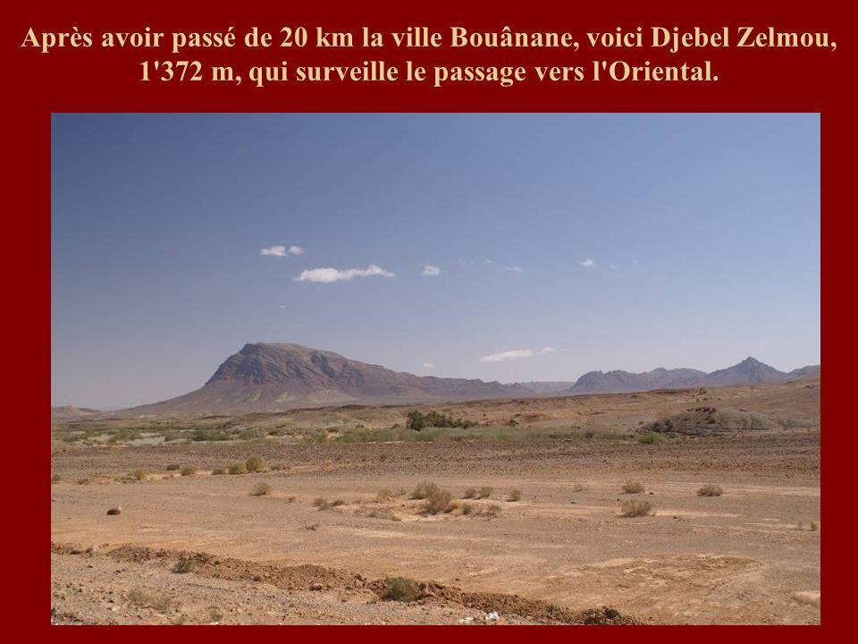 Après avoir passé de 20 km la ville Bouânane, voici Djebel Zelmou, 1'372 m, qui surveille le passage vers l'Oriental.