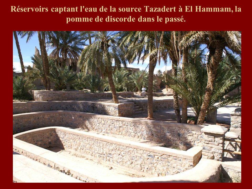 Réservoirs captant l'eau de la source Tazadert à El Hammam, la pomme de discorde dans le passé.