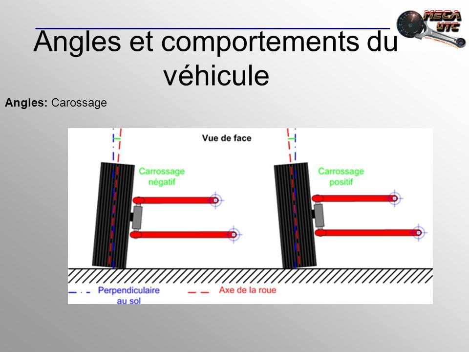 Angles et comportements du véhicule Angles: Carossage