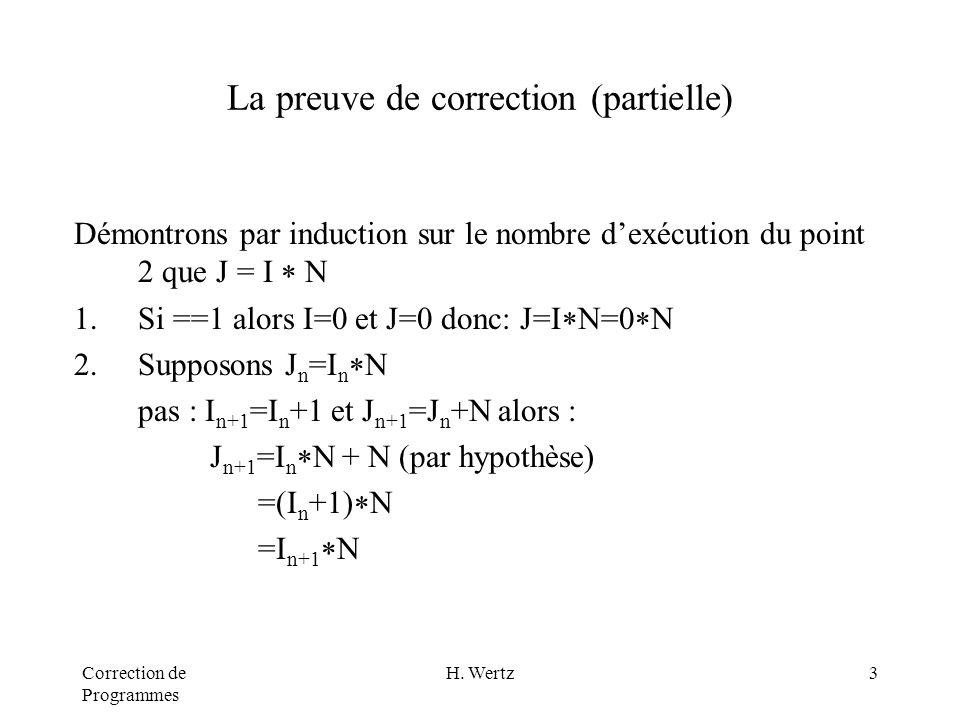 Correction de Programmes H.