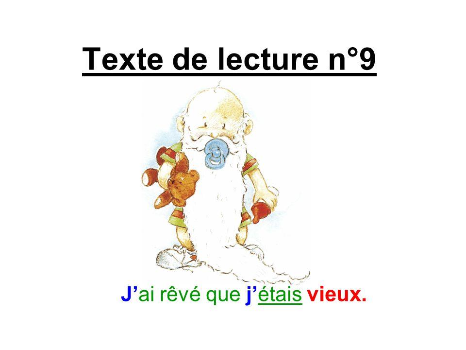 Texte de lecture n°9 Jai rêvé que jétais vieux.