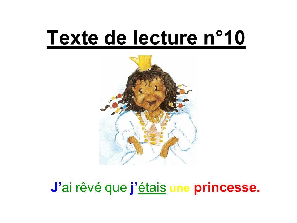 Texte de lecture n°10 Jai rêvé que jétais une princesse.