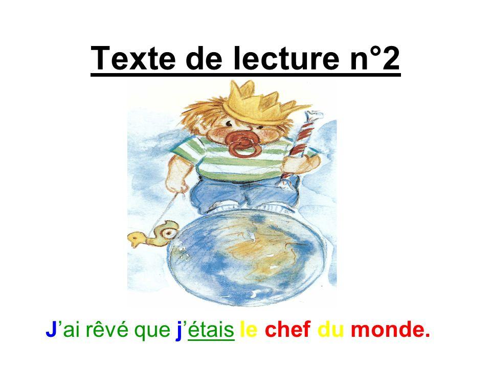 Texte de lecture n°3 Jai rêvé que jétais riche.