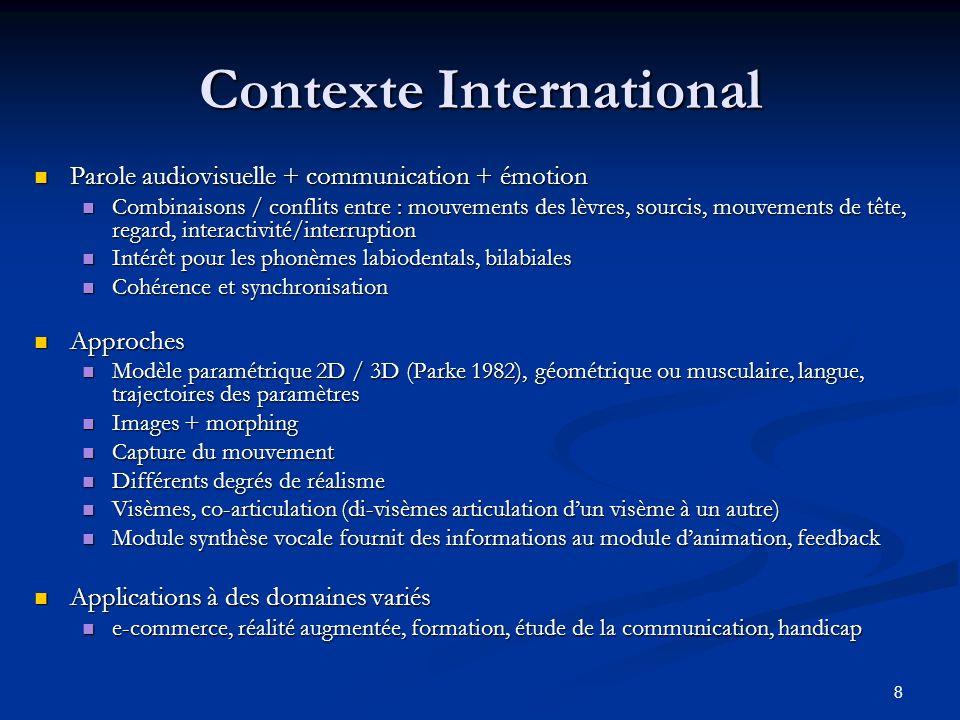9 Contexte LIMSI Blum A., Amandine Afonso, Christian Jacquemin, Brian Katz., (2004).