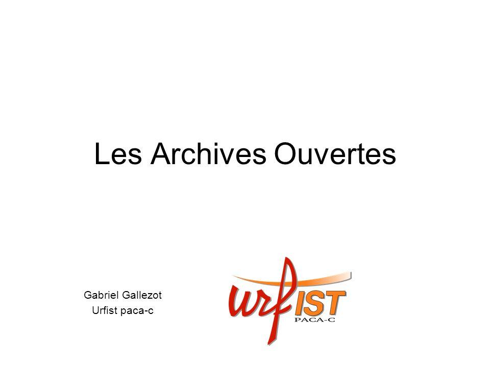 Les Archives Ouvertes Gabriel Gallezot Urfist paca-c