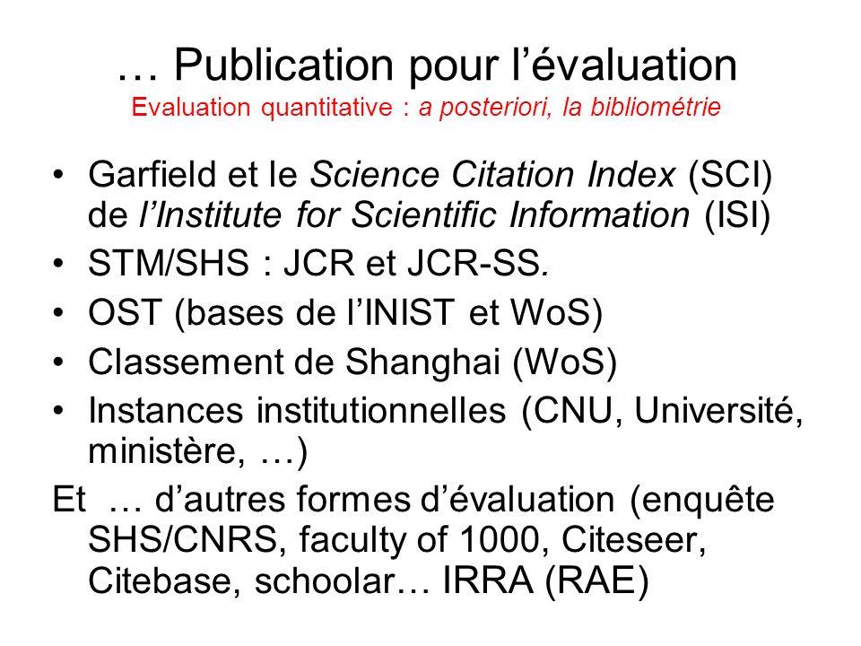 Communication scientifique modèle 70 Source : Julie M. Hurd JASIST 51(14), 2000