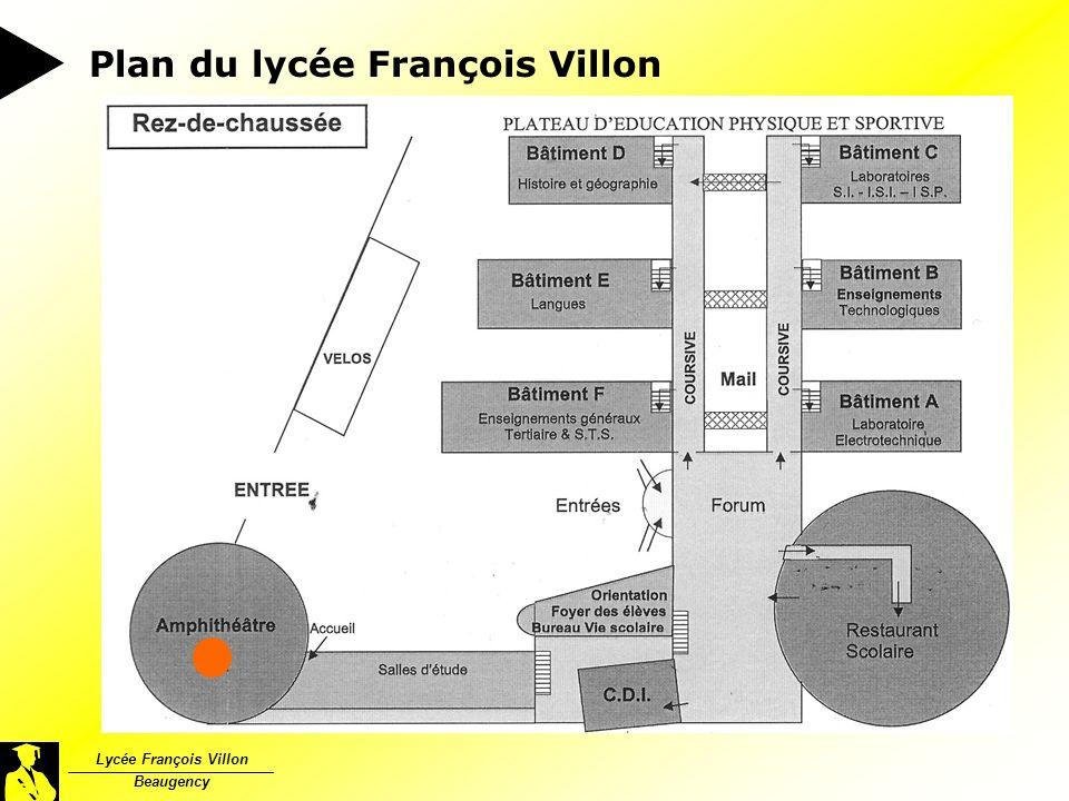 Lycée François Villon Beaugency Plan du lycée François Villon