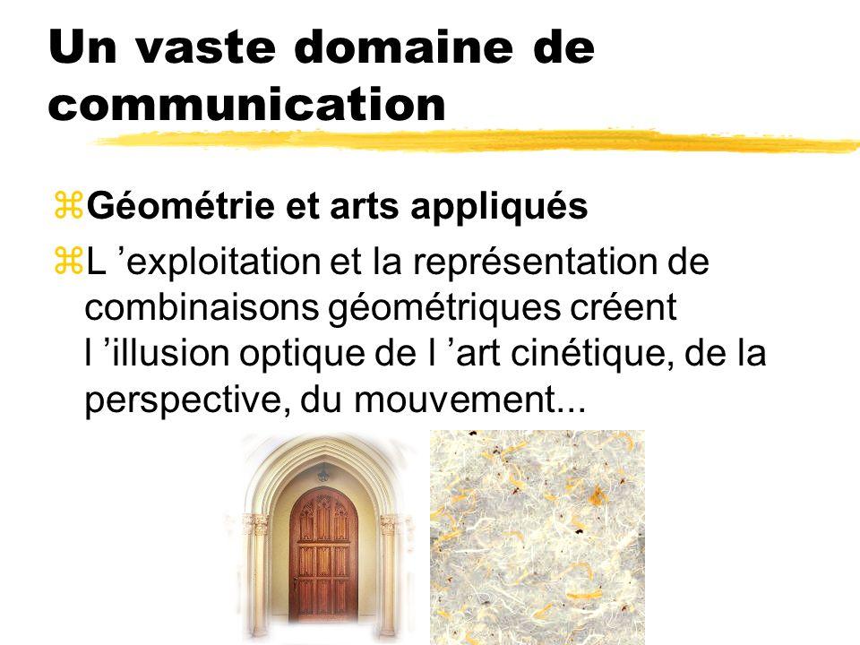 Un vaste domaine de communication zGéométrie et arts appliqués zL exploitation et la représentation de combinaisons géométriques créent l illusion opt