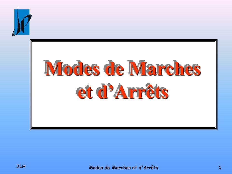 JLH Modes de Marches et d Arrêts 1 Modes de Marches et dArrêts