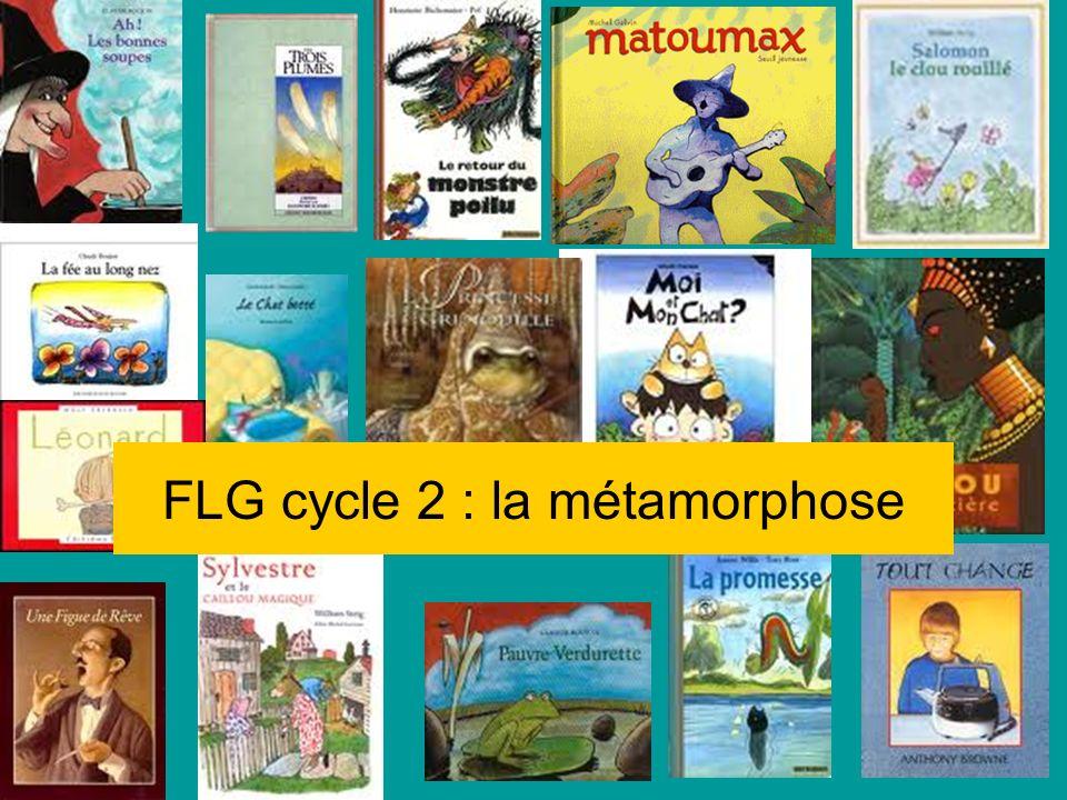 2ème production sur un livre choisi Au cours de la deuxième étape, la classe devra compléter son travail en illustrant sa sélection sous lune des formes suivantes : Pour le cycle 2 (1 seul choix) -Invention dune métamorphose supplémentaire -Un jeu de loto.