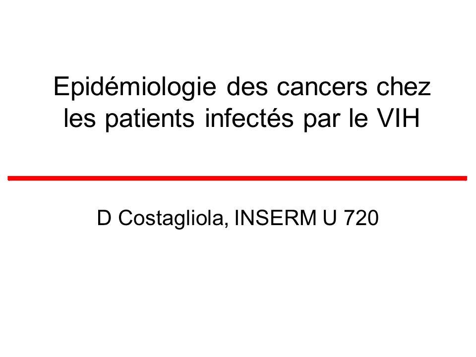 Epidémiologie des cancers chez les patients infectés par le VIH D Costagliola, INSERM U 720