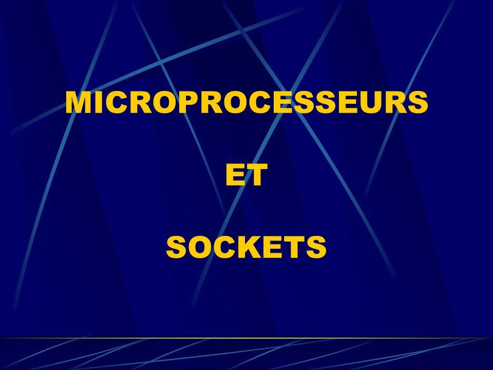 MICROPROCESSEURS ET SOCKETS