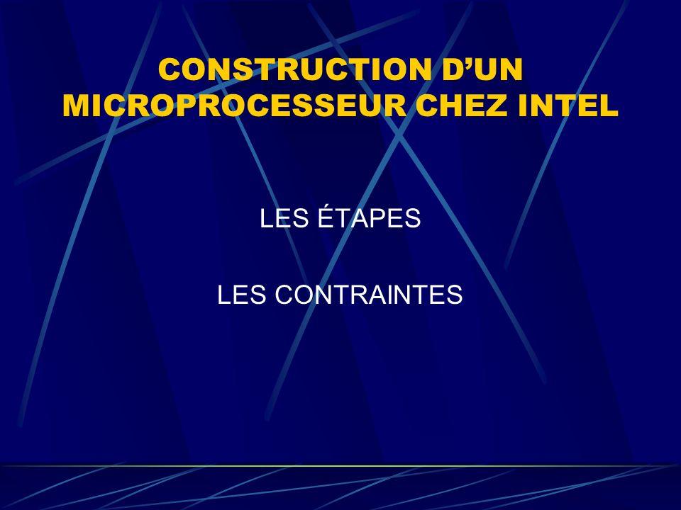 CONSTRUCTION DUN MICROPROCESSEUR CHEZ INTEL LES ÉTAPES LES CONTRAINTES