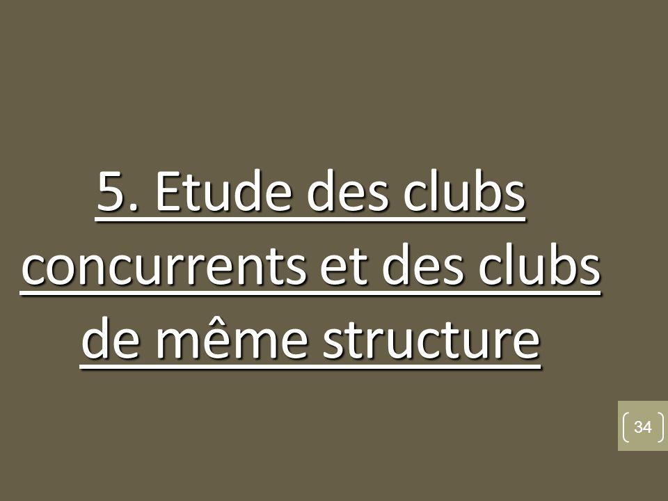 5. Etude des clubs concurrents et des clubs de même structure 34
