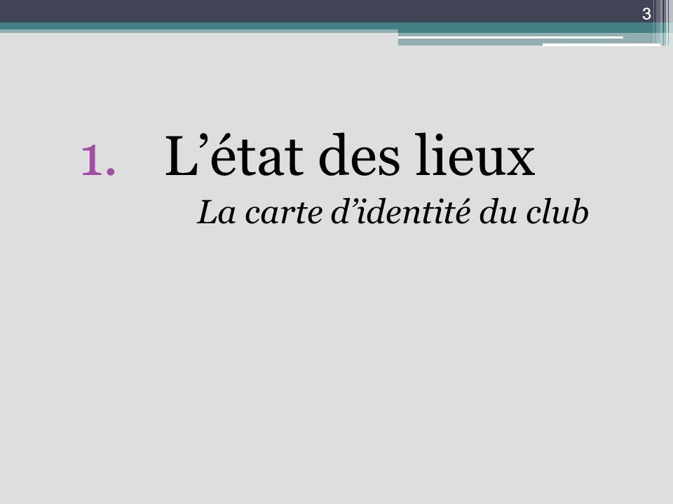1.Létat des lieux La carte didentité du club 3