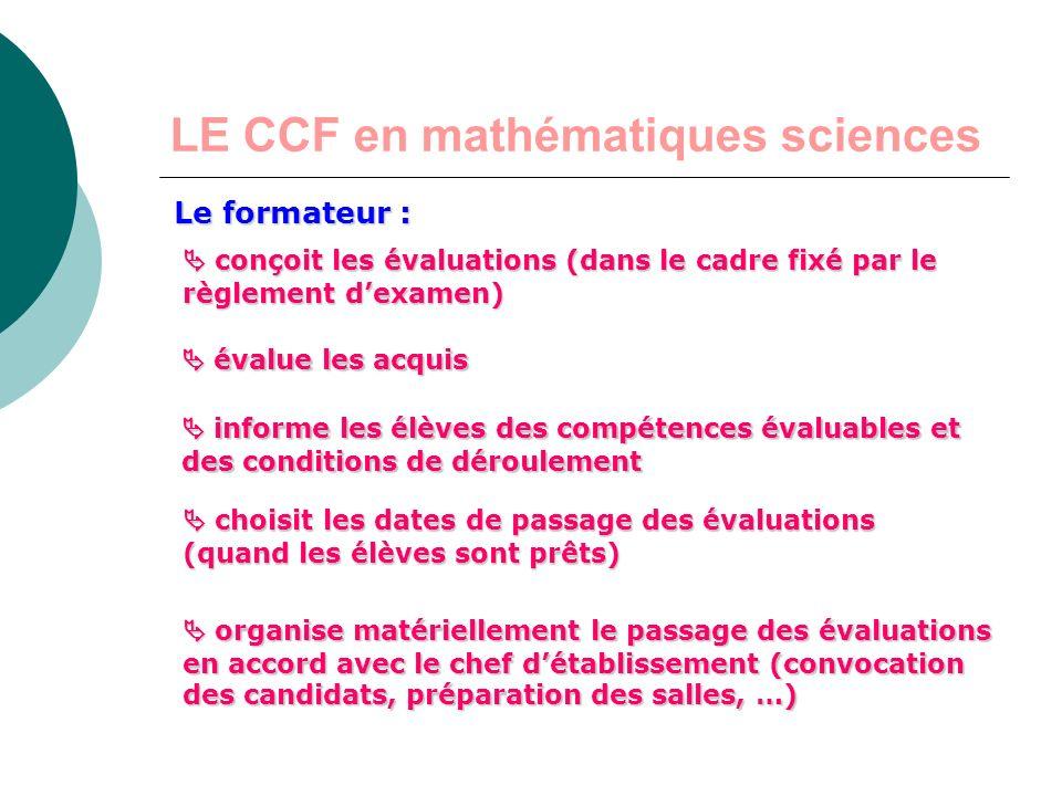 LE CCF en mathématiques sciences 2 e situation dévaluation évaluation écrite en mathématiques Notée sur 10 points Durée une heure environ fractionnée
