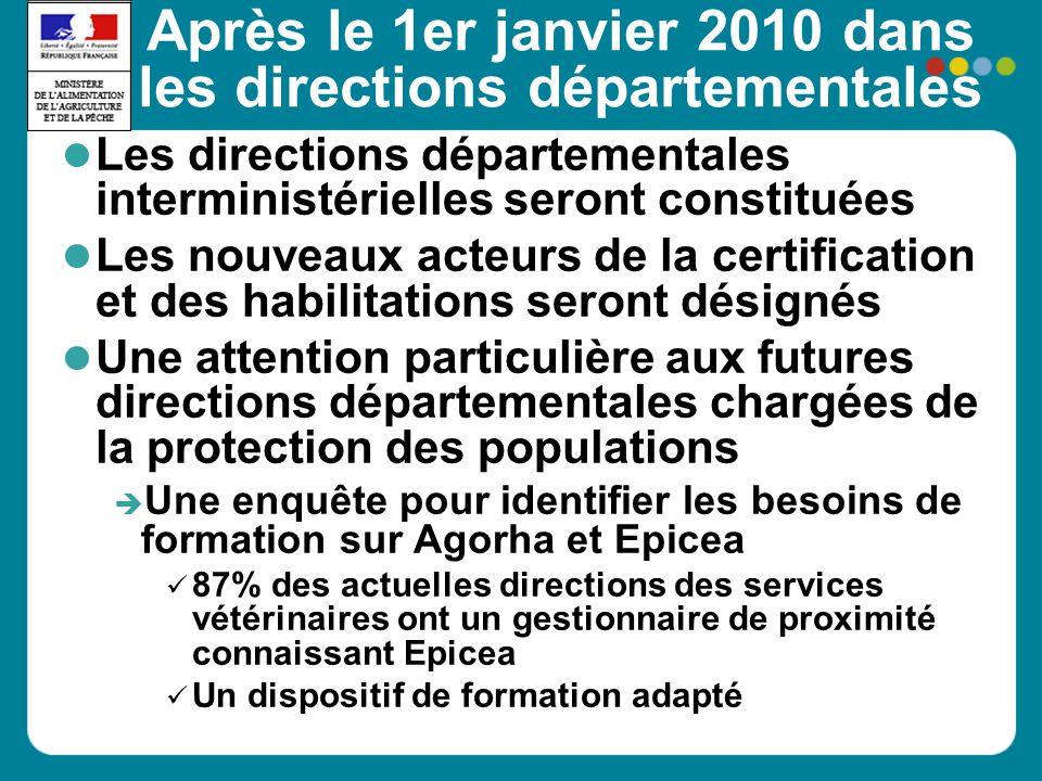 Après le 1er janvier 2010 dans les directions départementales Les directions départementales interministérielles seront constituées Les nouveaux acteu