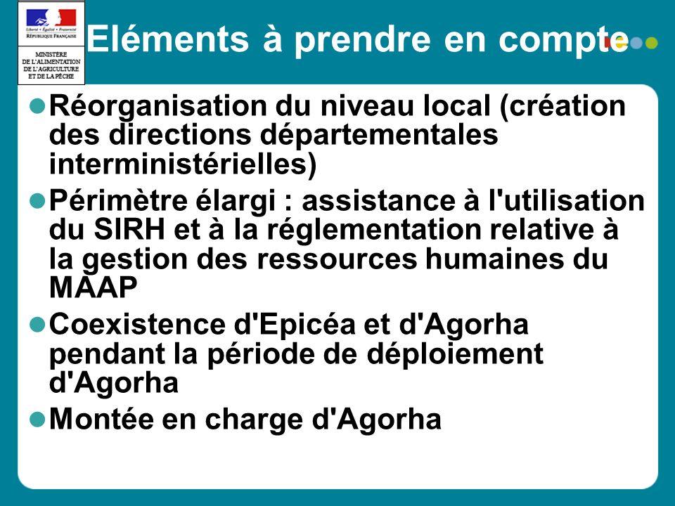 Eléments à prendre en compte Réorganisation du niveau local (création des directions départementales interministérielles) Périmètre élargi : assistanc