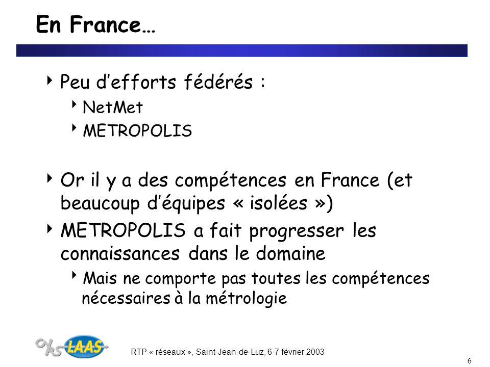 RTP « réseaux », Saint-Jean-de-Luz, 6-7 février 2003 17 4.