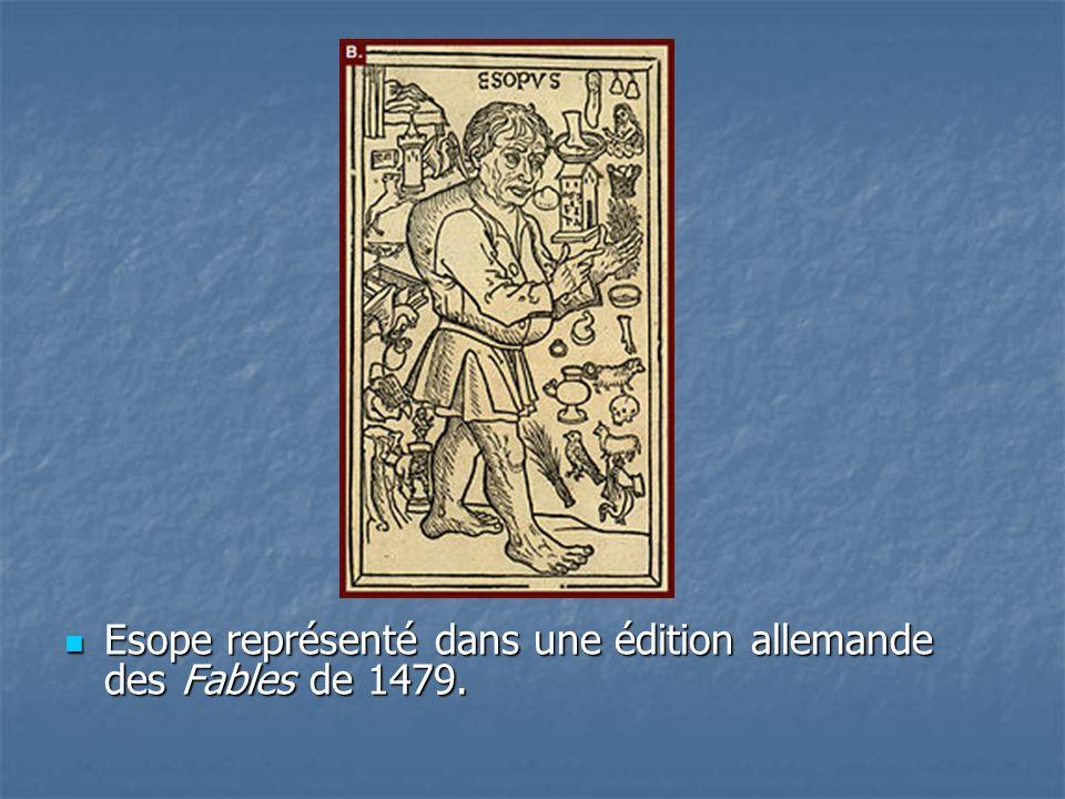 Esope représenté dans une édition allemande des Fables de 1479. Esope représenté dans une édition allemande des Fables de 1479.