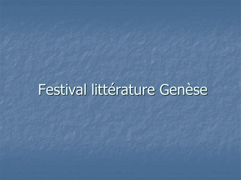 Festival littérature Genèse