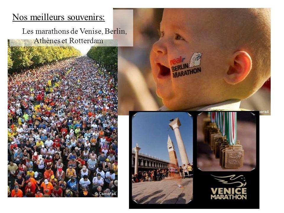 Nos meilleurs souvenirs: Les marathons de Venise, Berlin, Athènes et Rotterdam