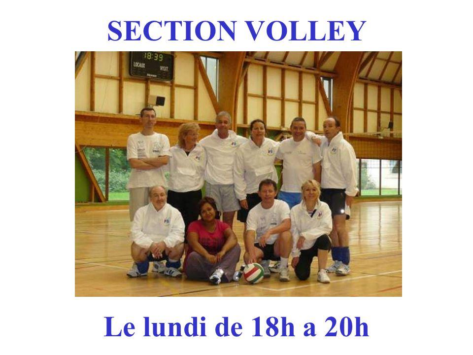 SECTION VOLLEY Le lundi de 18h a 20h