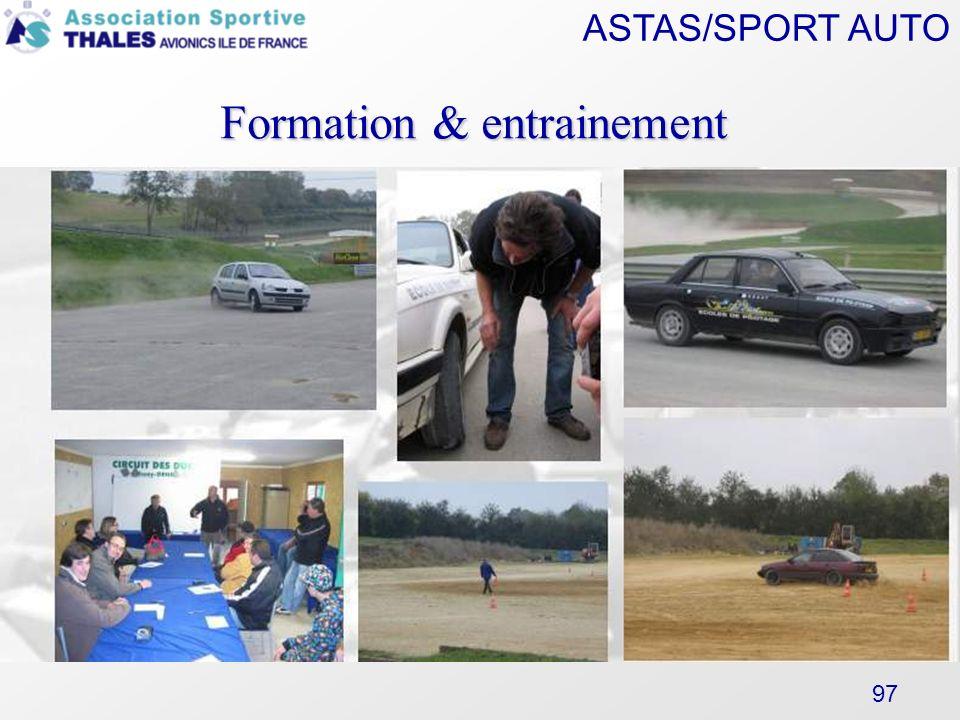 ASTAS/SPORT AUTO 97 Formation & entrainement Pas de photo !!!!