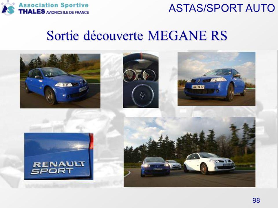 ASTAS/SPORT AUTO 98 Sortie découverte MEGANE RS