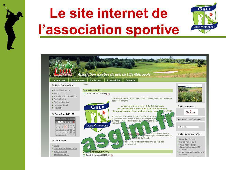 Le site internet de lassociation sportive