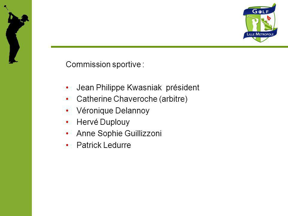 Commission sportive : Jean Philippe Kwasniak président Catherine Chaveroche (arbitre) Véronique Delannoy Hervé Duplouy Anne Sophie Guillizzoni Patrick