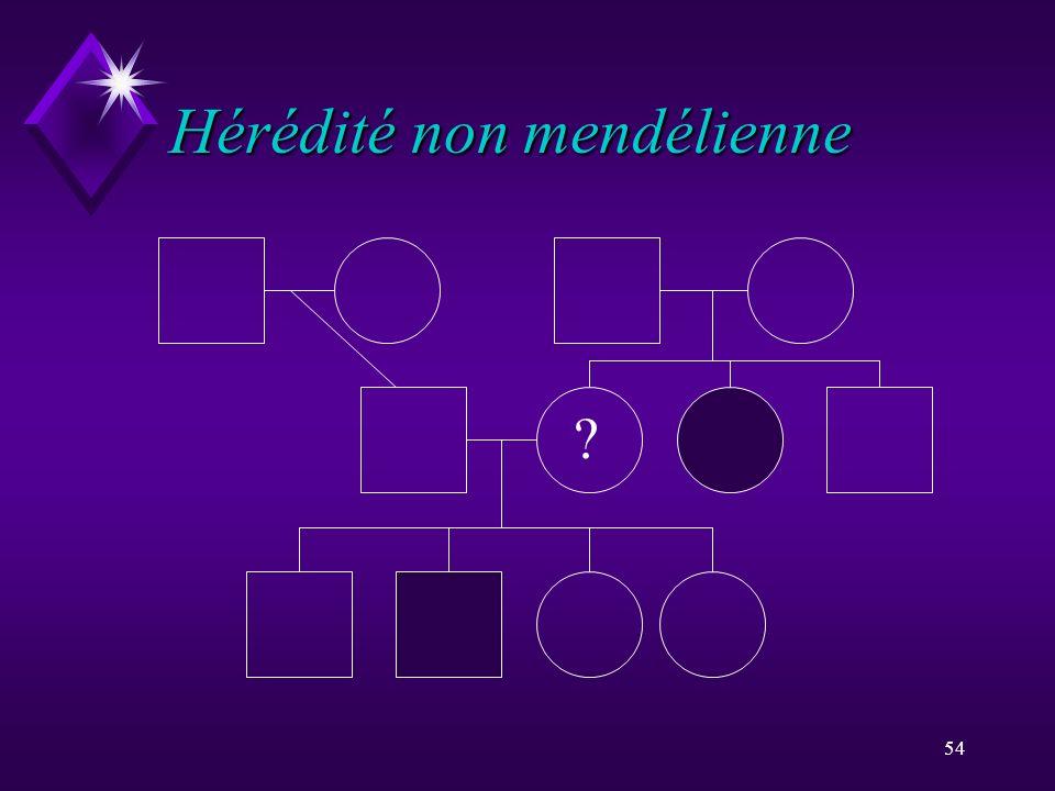 54 Hérédité non mendélienne ?