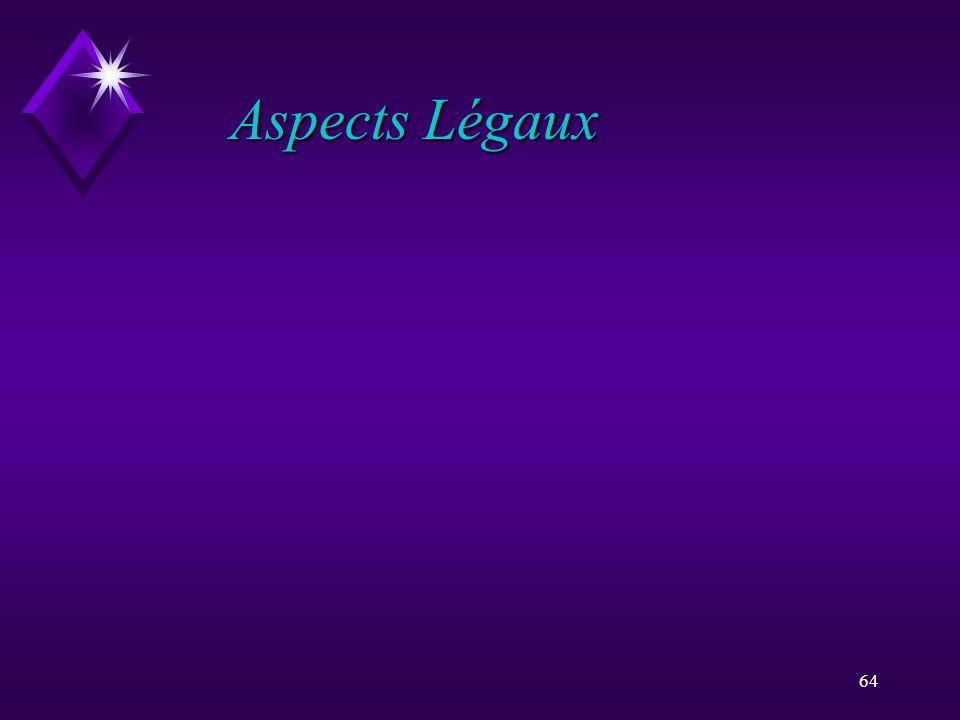 64 Aspects Légaux