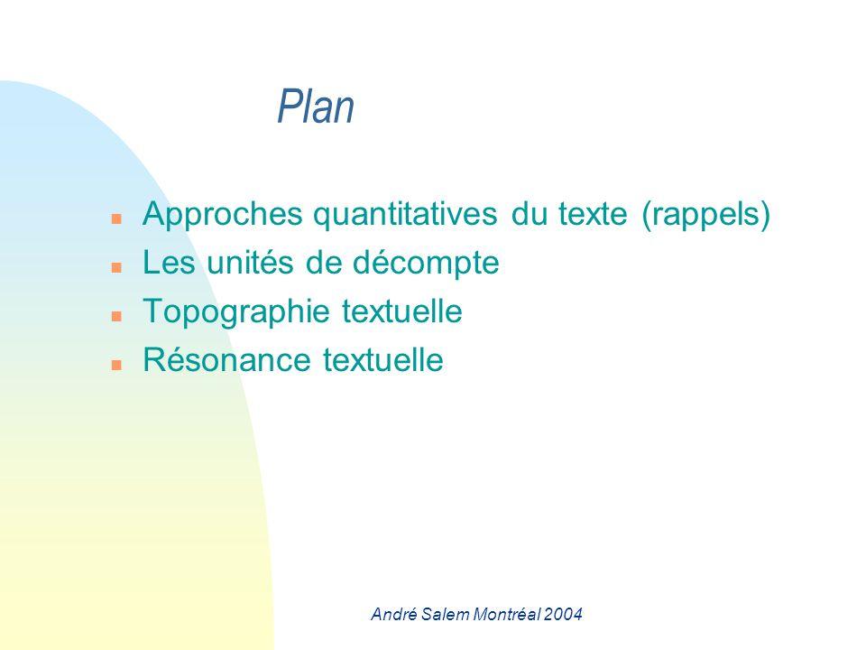 André Salem Montréal 2004 Quelles sont les formes qui sont à la base de l évolution .