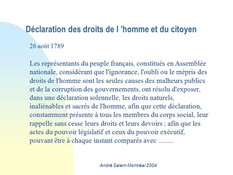 André Salem Montréal 2004 Ce texte est assez court, ce qui rend délicate une analyse de contenu.