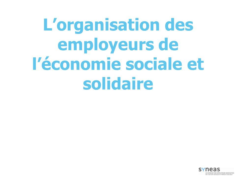Lorganisation des employeurs de léconomie sociale et solidaire