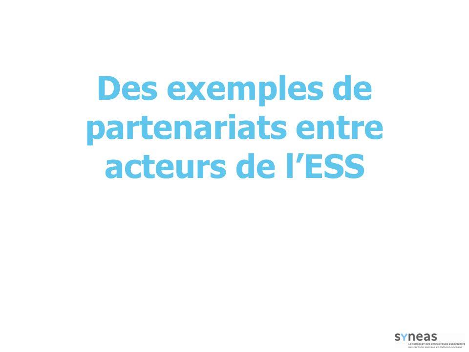 Des exemples de partenariats entre acteurs de lESS