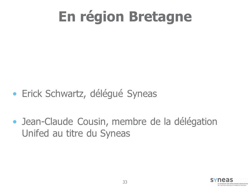 33 En région Bretagne Erick Schwartz, délégué Syneas Jean-Claude Cousin, membre de la délégation Unifed au titre du Syneas