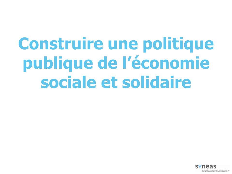 Construire une politique publique de léconomie sociale et solidaire