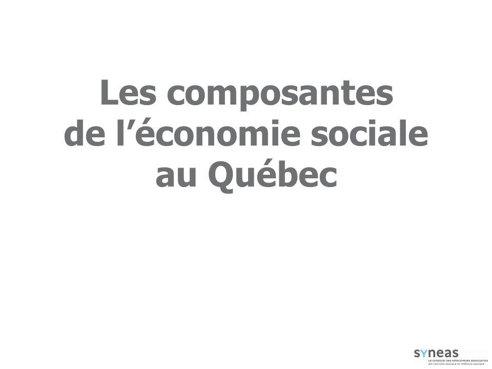 Les composantes de léconomie sociale au Québec