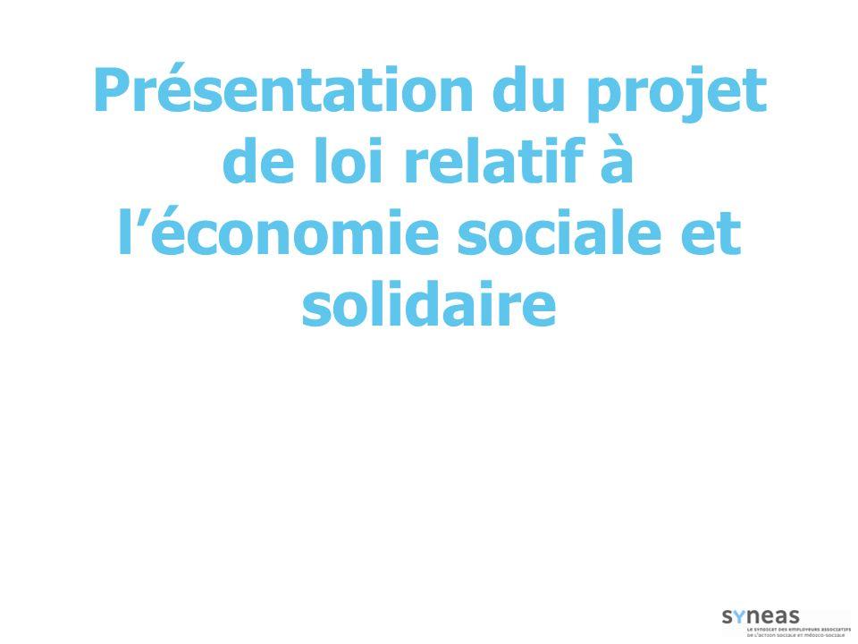 Présentation du projet de loi relatif à léconomie sociale et solidaire
