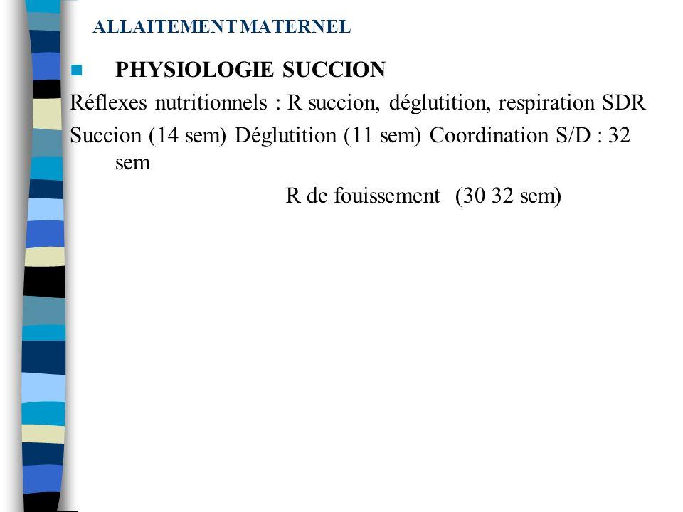 ALLAITEMENT MATERNEL Lallaitement est une fonction biologique invariante mais à expression éminemment variable QUELQUES REPERES CAPACITE DE STOCKAGE C